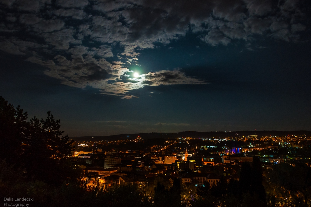 Supermoon Over Cluj-Napoca